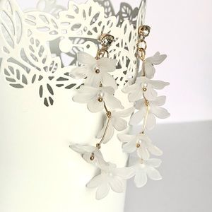 White Lilies Bouquet Earring